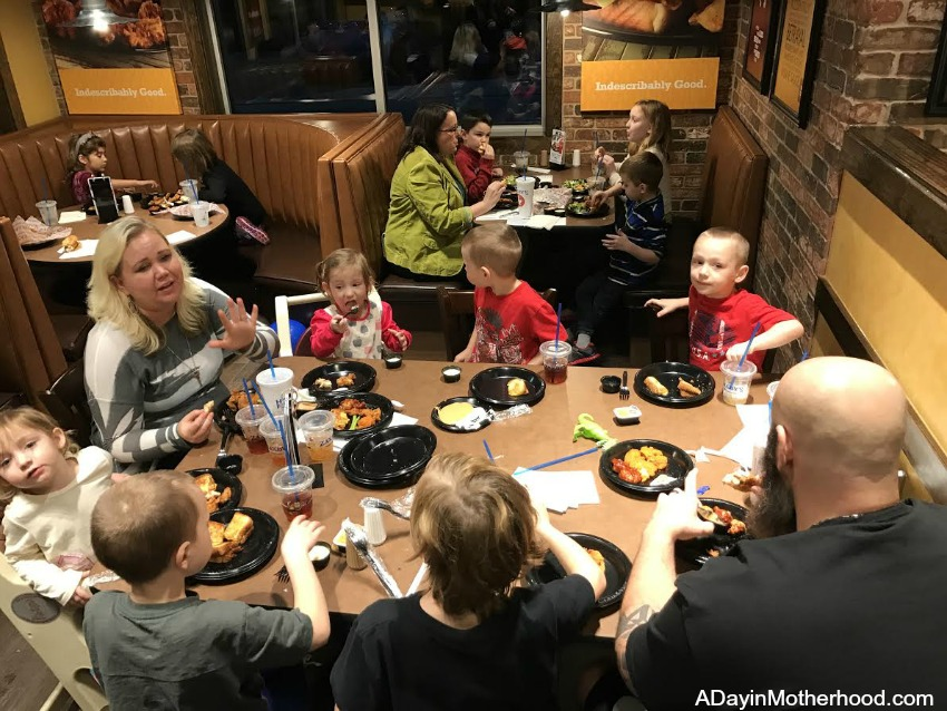 Zaxby's Restaurant for the whole family!