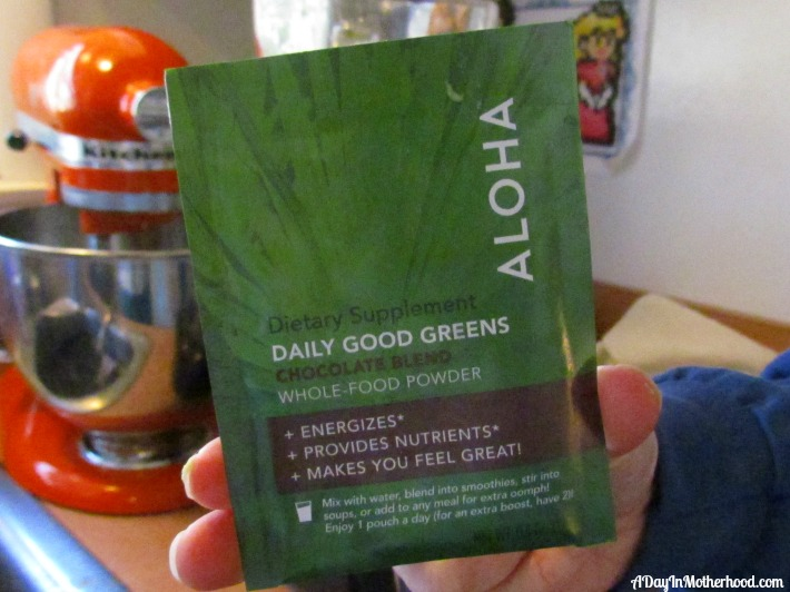 Aloha Daily Good Greens from Daily Goodie Box. ad