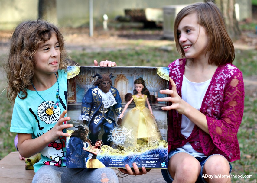 Watch them fight over the Beauty and the Beast toys set