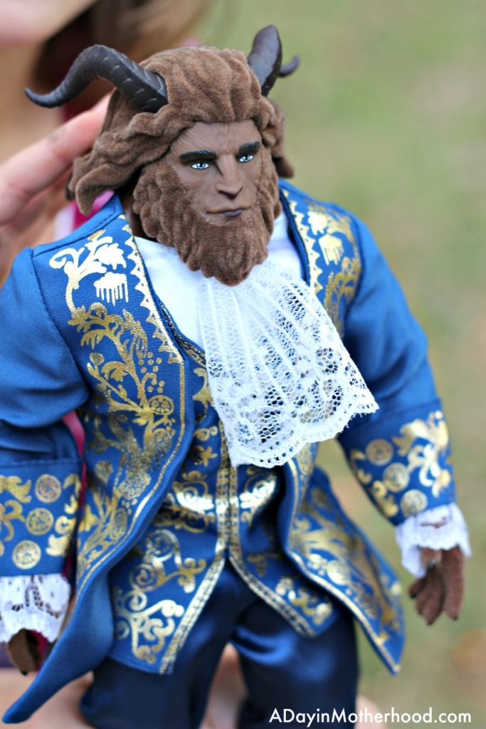 The Beast in the Beauty and the Beast Toys set is detailed