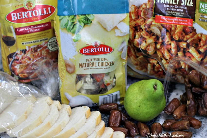 Pear and Date Salad Recipe pairs with Bertolli Perfectly