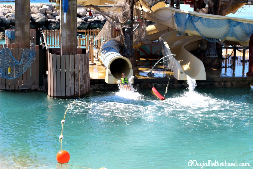 My kids loved falling out of the slides on Castaway Cay into the ocean