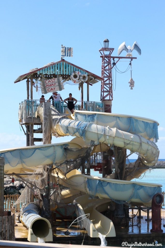 The double slides on Castaway Cay are a fun activity for kids!