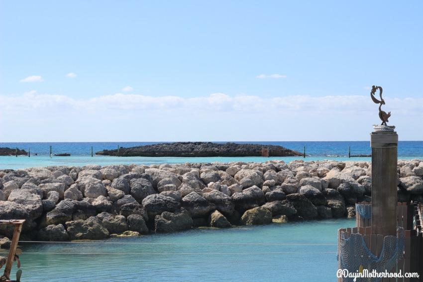 The scenery on Castaway Cay is breathtaking