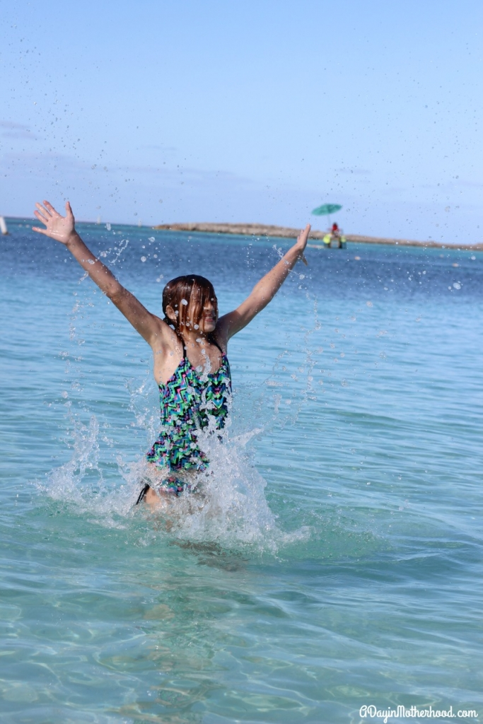 The kids loved the water and the beach on Castaway Cay