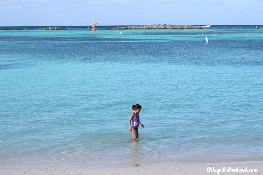 Castaway Cay has crystal blue water