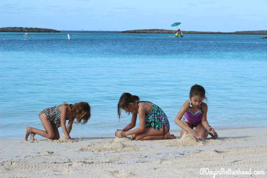 A day of play on the sand at Castaway Cay is a kid's dream!