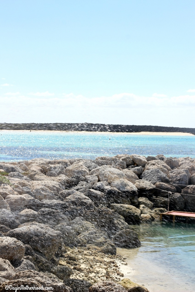 Watch the water hit the rocks on Castaway Cay