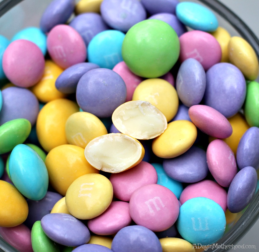 The M&Ms White Chocolate are the perfect addition to Red Velvet Easter Cakes Recipe