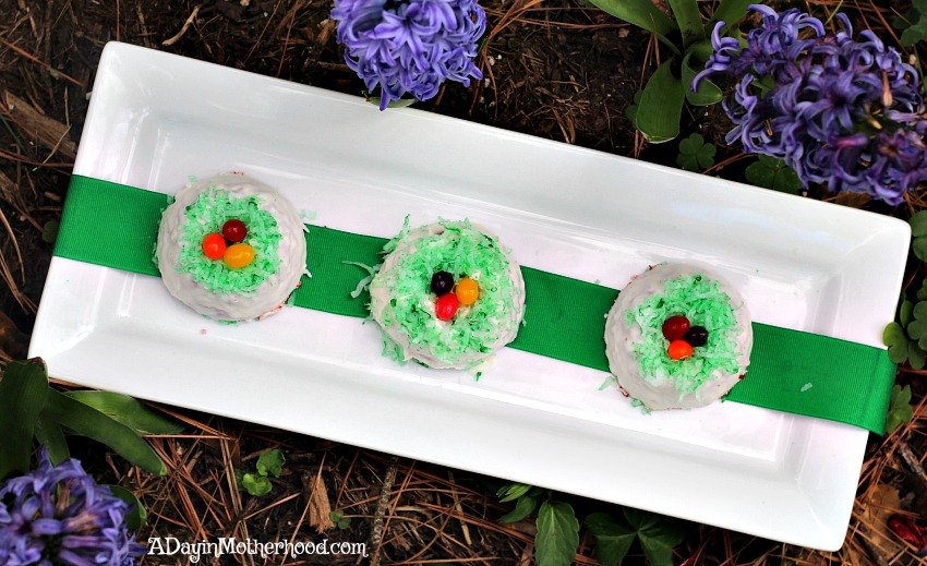 Make a cute plate to show off your Red Velvet Easter Cakes