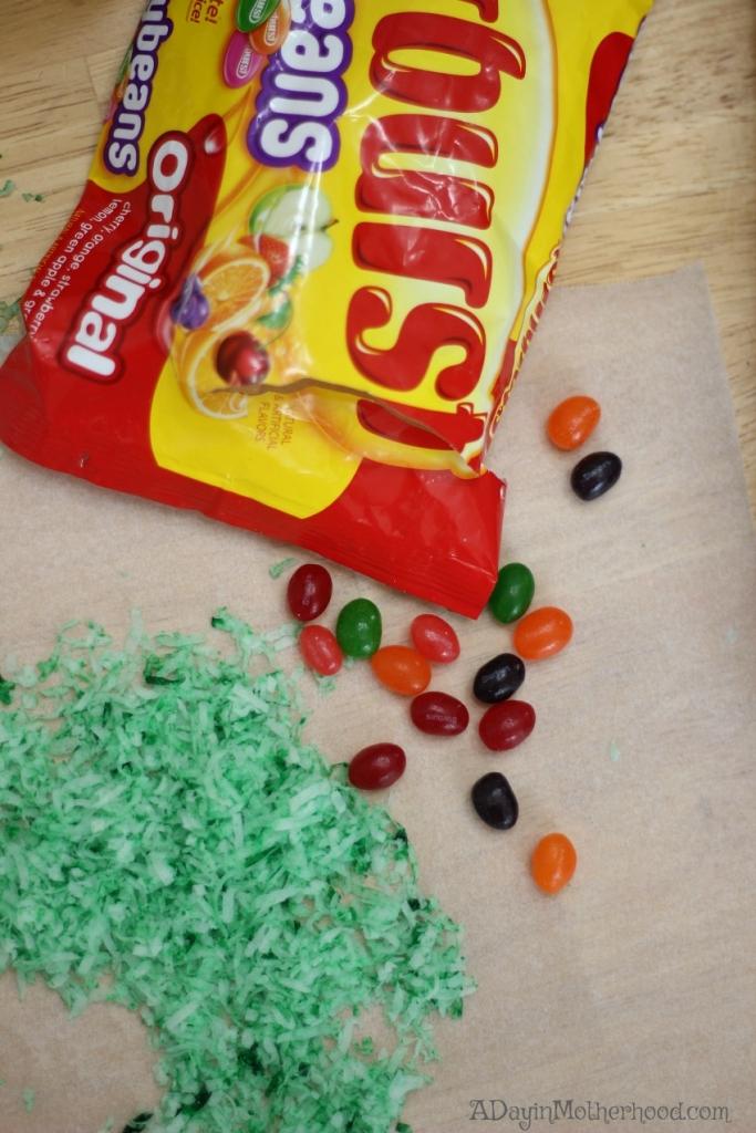 Use Starburt Jelly Beans as eggs on your Red Velvet Easter Cakes Recipe
