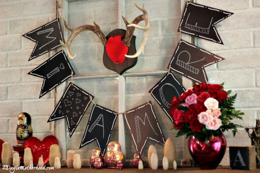 Make this Easy DIY Valentine Mantle Sign