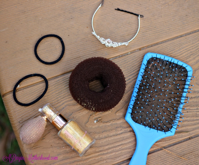 An easy Princess Updo starts with the right tools