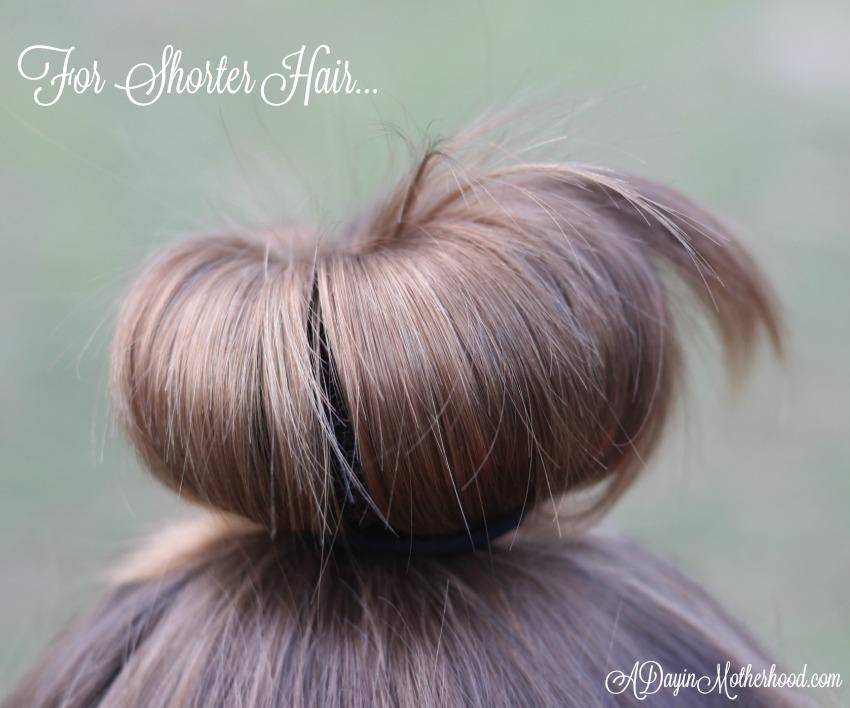 How to make an Easy Princess Updo for shorter hair