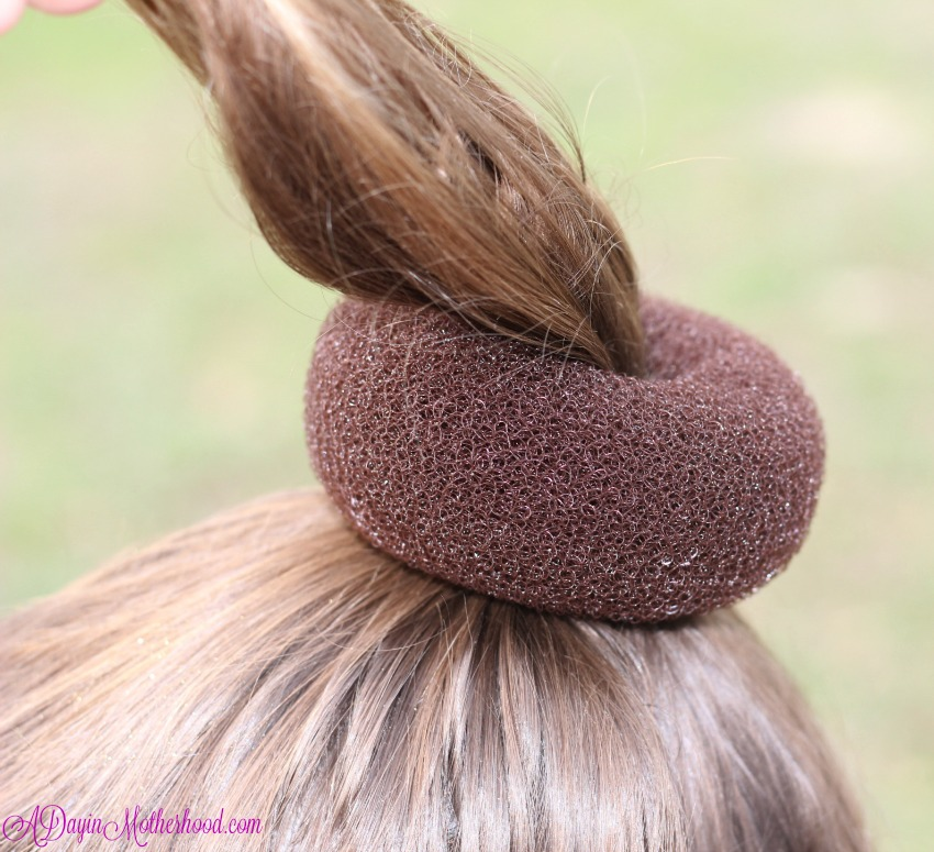 Use the Donuy Bun Maker on the Easy Princess Updo for Kids
