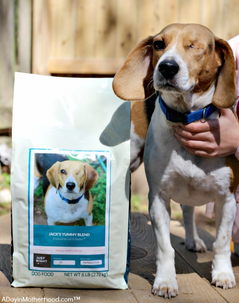 Jack's picture is on Just Right by Purina