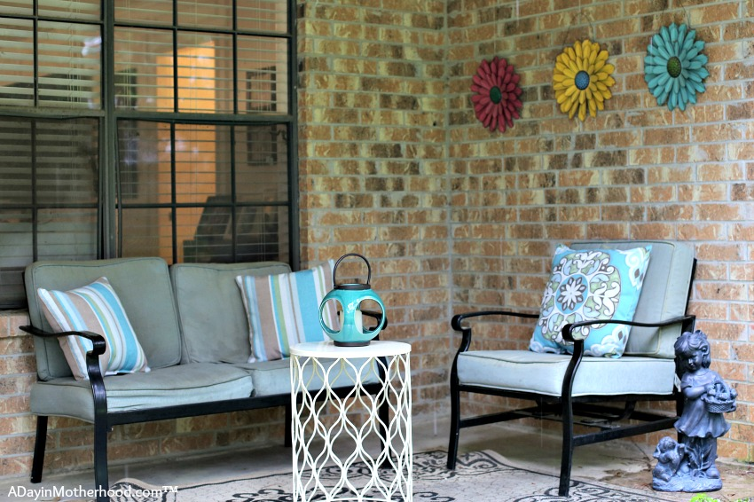 See my Patio Refresh For Under $100 Challenge from Big Lots