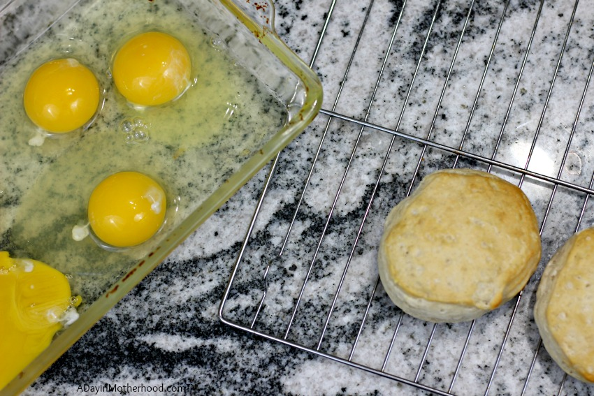 The ingredients for Leftover Biscuit French Toast Recipe are simple