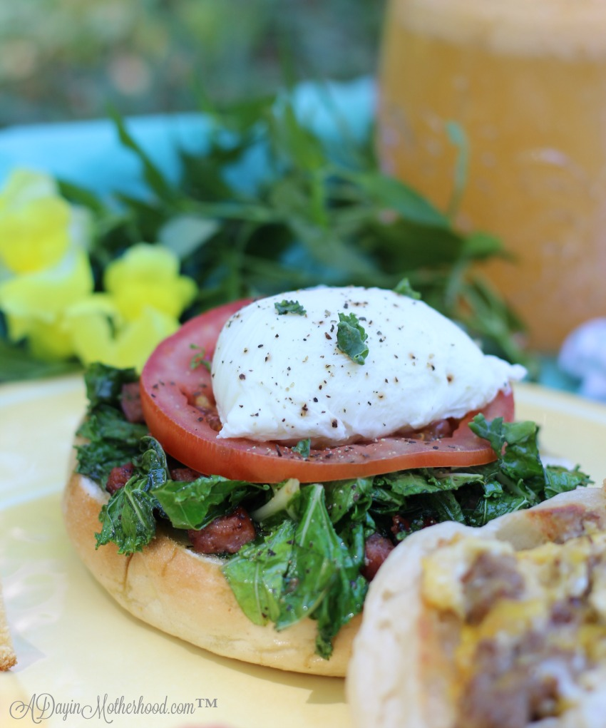 Sausage and Kale Bagels are one of the 4 Mother's Day Brunch Recipes You Have to Make