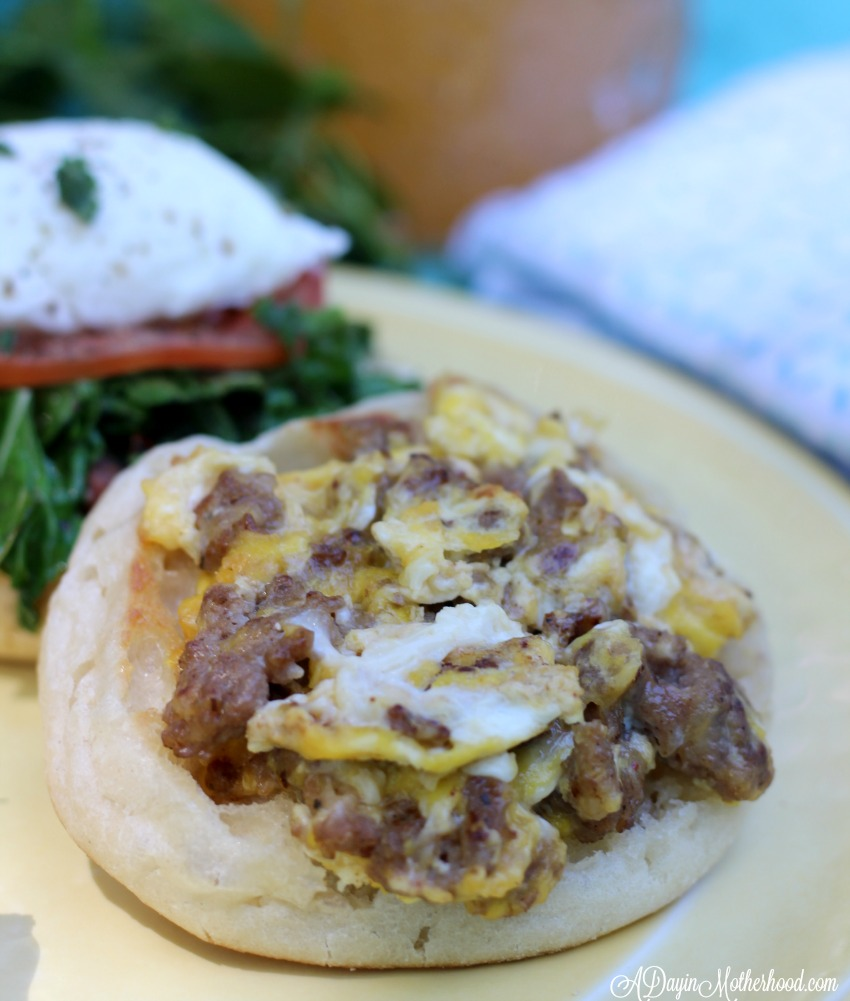 Sausage and Egg English Muffins are a hit as one of the 4 Mother's Day Brunch Recipes You Have to Make