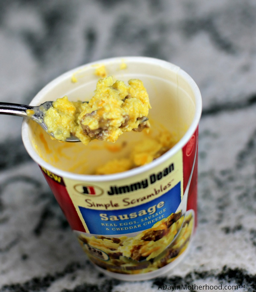 Protein Up Breakfast with Delicious Jimmy Dean Simple Scrambles are easy as 1, 2, 3!
