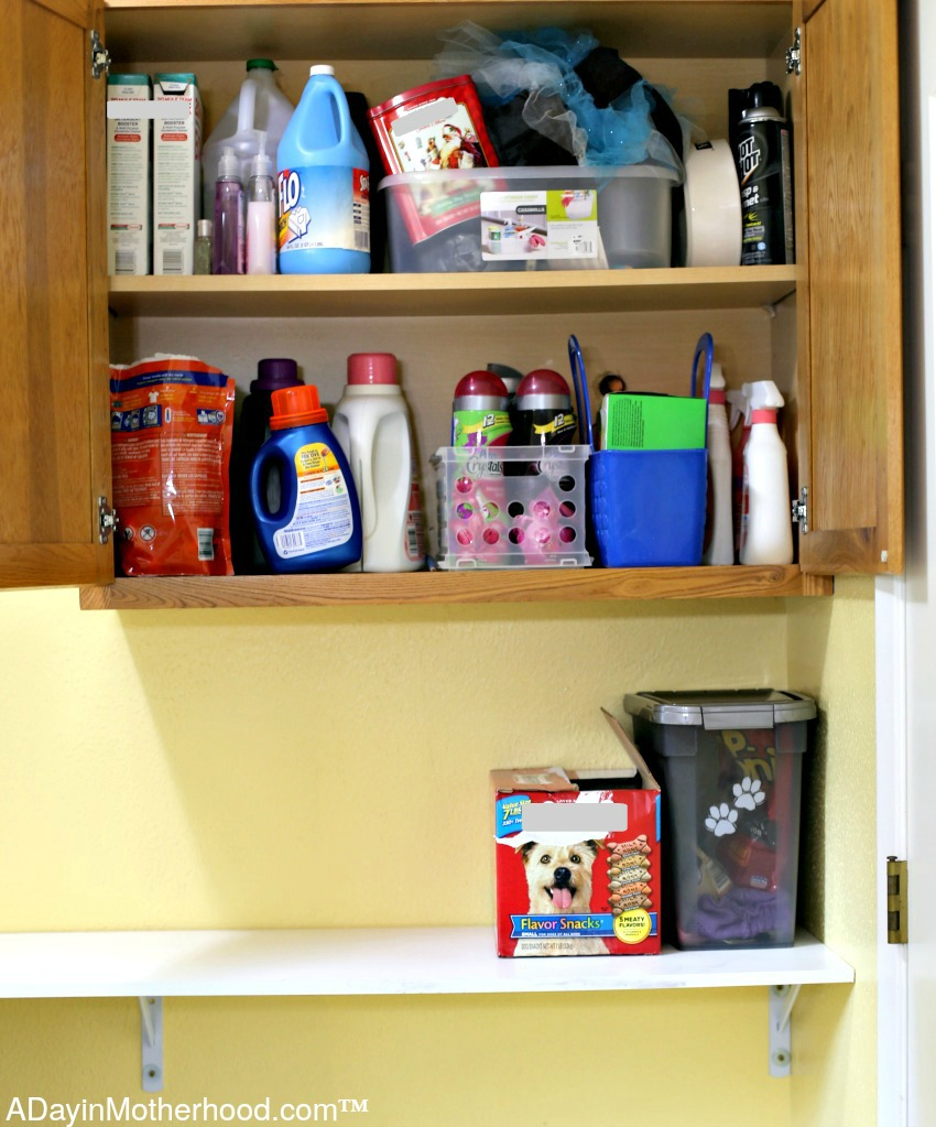 Organize those cabinets for Ways to Organize Your Laundry Room