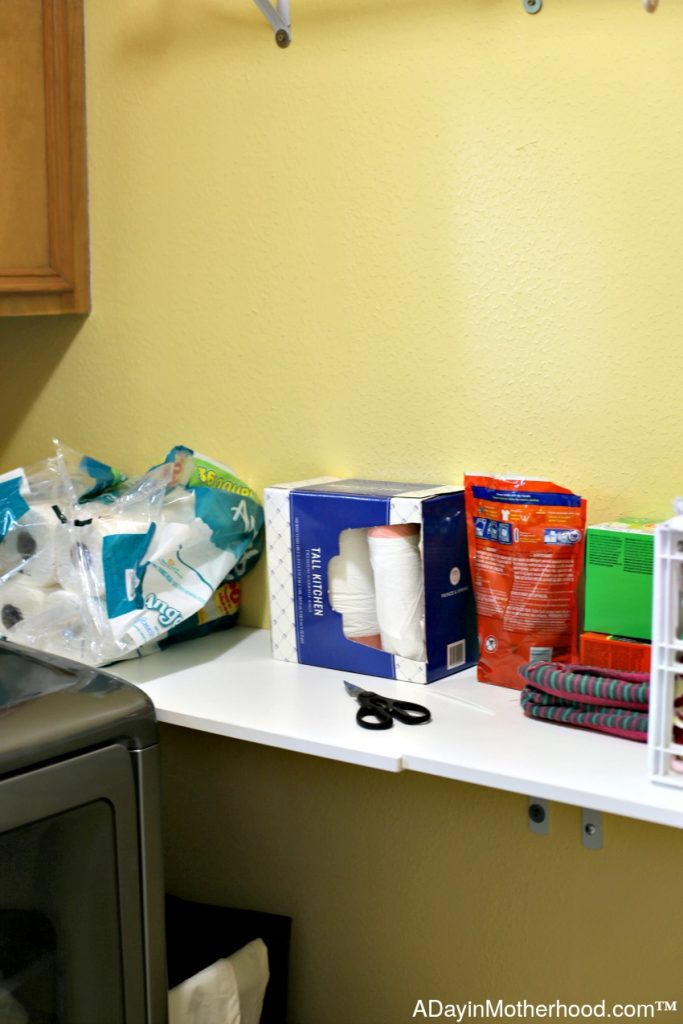 Cluttered shelves take away from function. Clear them for Ways to Organize Your Laundry Room