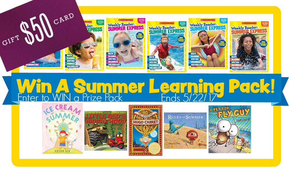 WIN a Scholastic Summer Learning Pack + $50 Gift Card to use all summer!