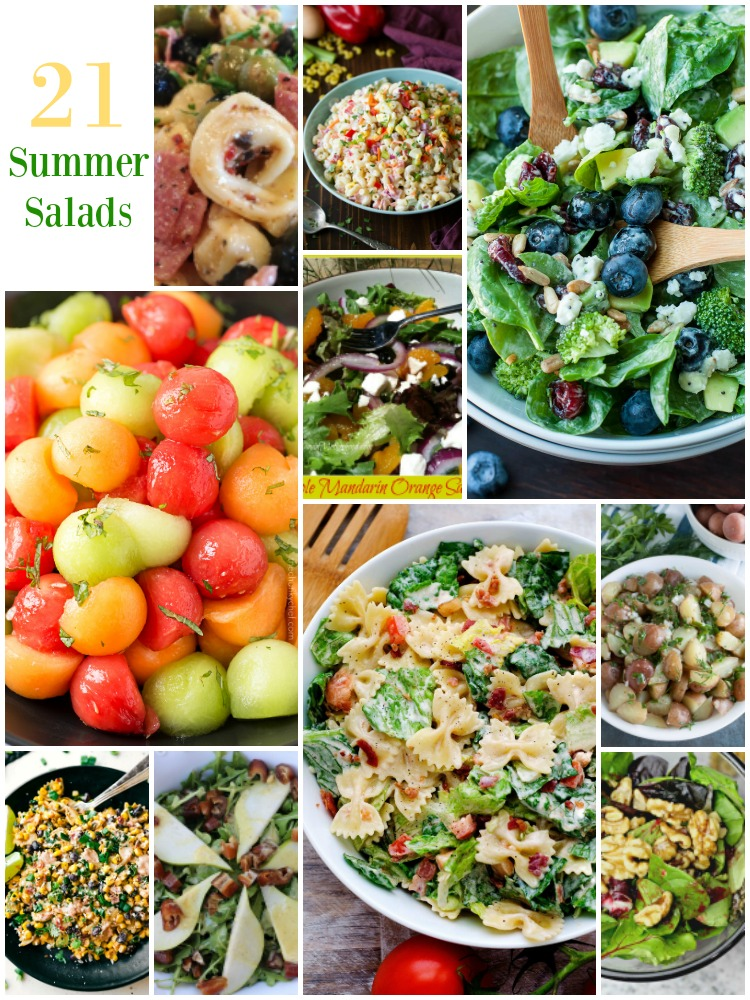 21 Salads to add to your summer gatherings.