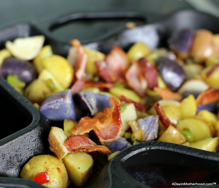 Cast Iron Skillet Bacon and Potatoes Recipe starts with Bacon!