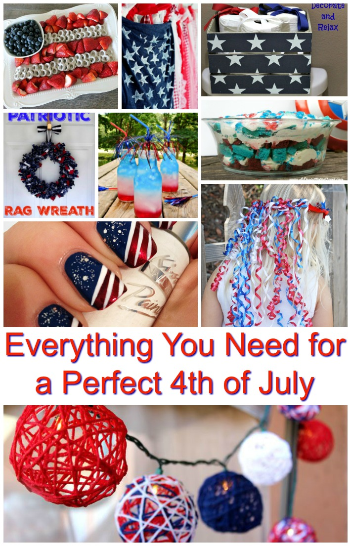 Everything you need for a perfect 4th of July experience is right here! Food, activities, decor, and even fashion!