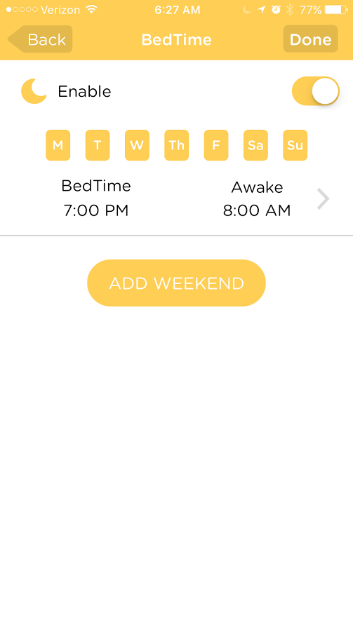 Filter Your Kids Online Activities with Circle with Disney with bedtime