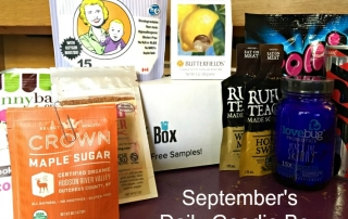 September Goodies from The Daily Goodie Box. ad