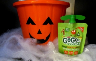 Celebrate fall with new GoGo Squeez - Apple Pumpkin Spice Applesauce pouches. ad