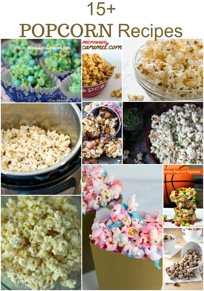 15+ Popcorn Recipes to make for movie night.