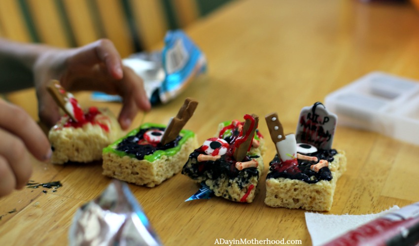 Halloween Treat Decorating Made Easy with rice krispies