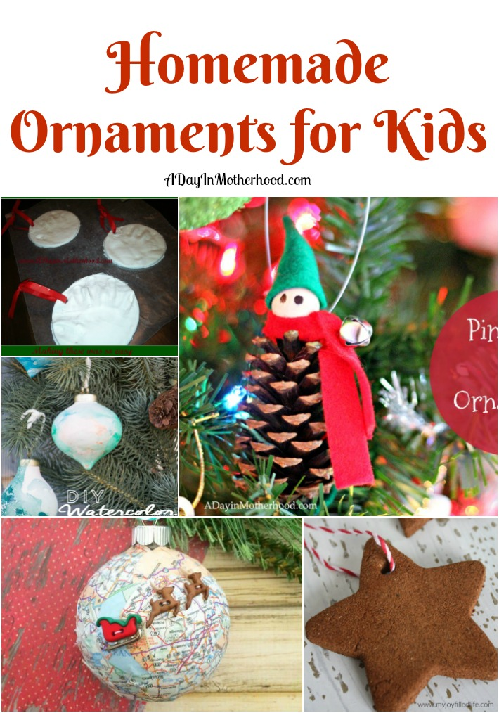 Make these 5 homemade ornaments with your kids.
