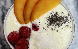 Raspberry Peach Mango Smoothie Bowl Recipe