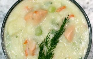 Easy Salmon Chowder Recipe (Cream & Milk Free)