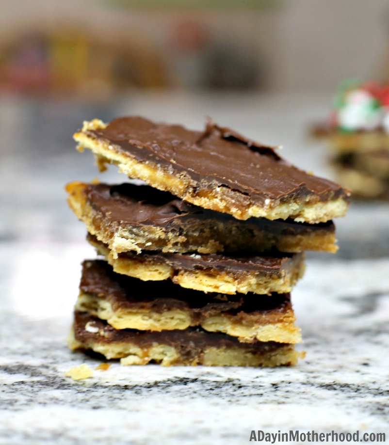 Easy Saltine Cracker Toffee Recipe for the holidays