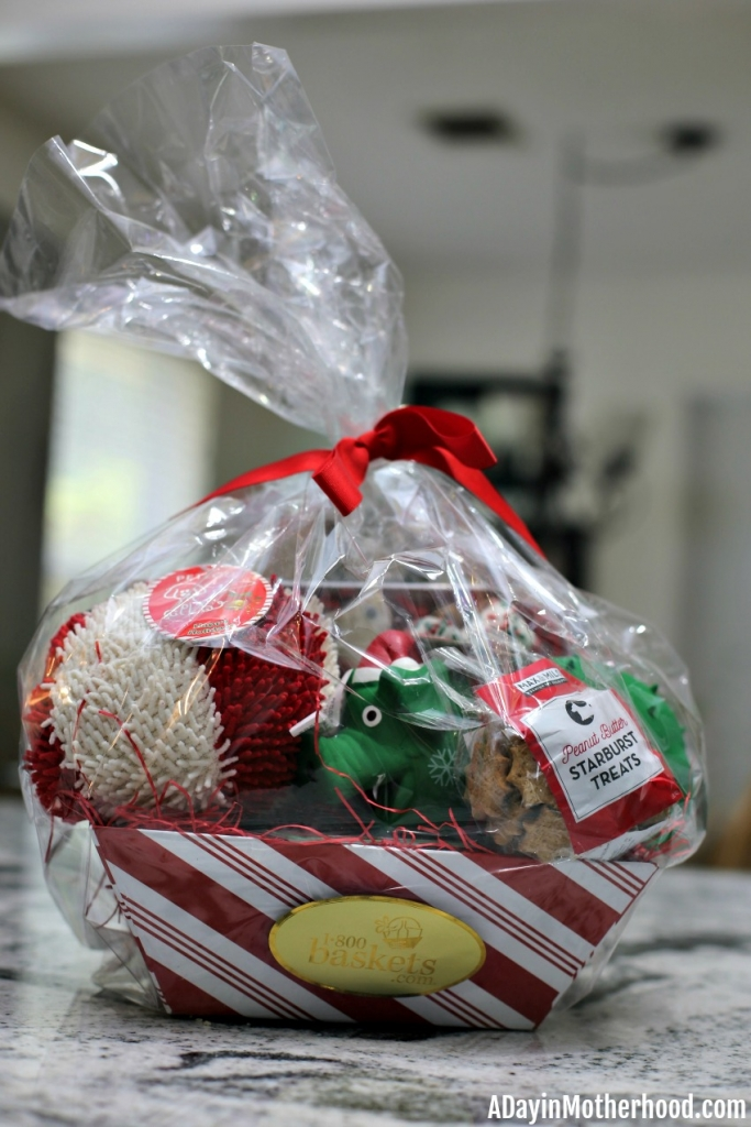 Treat Your Pets This Holiday Season with Baskets from 1-800-Baskets like this one