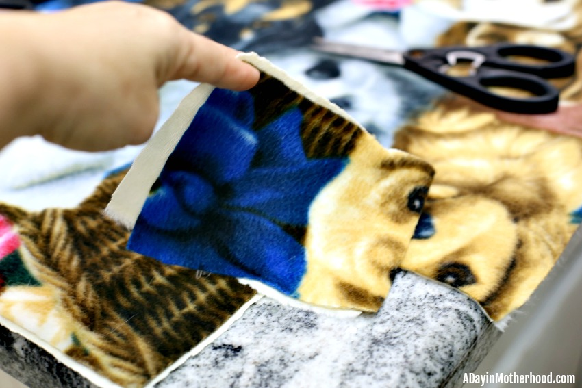 Easy DIY Tie Blanket (No Sew) and cut corners