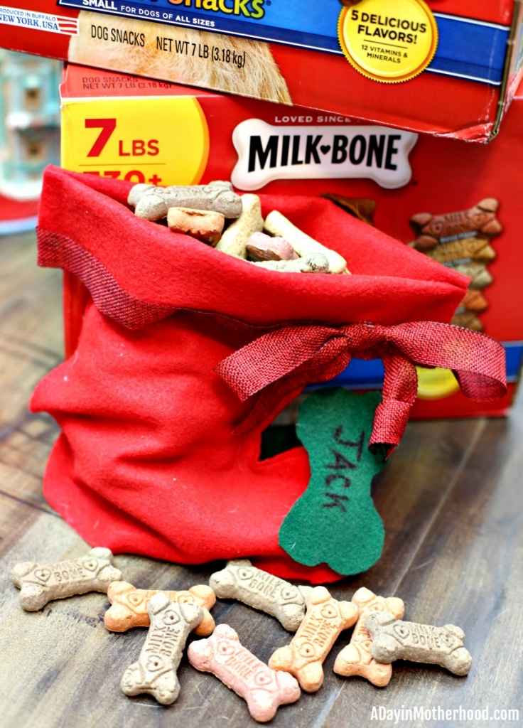 Easy DIY Dog Stocking (No Sew)
