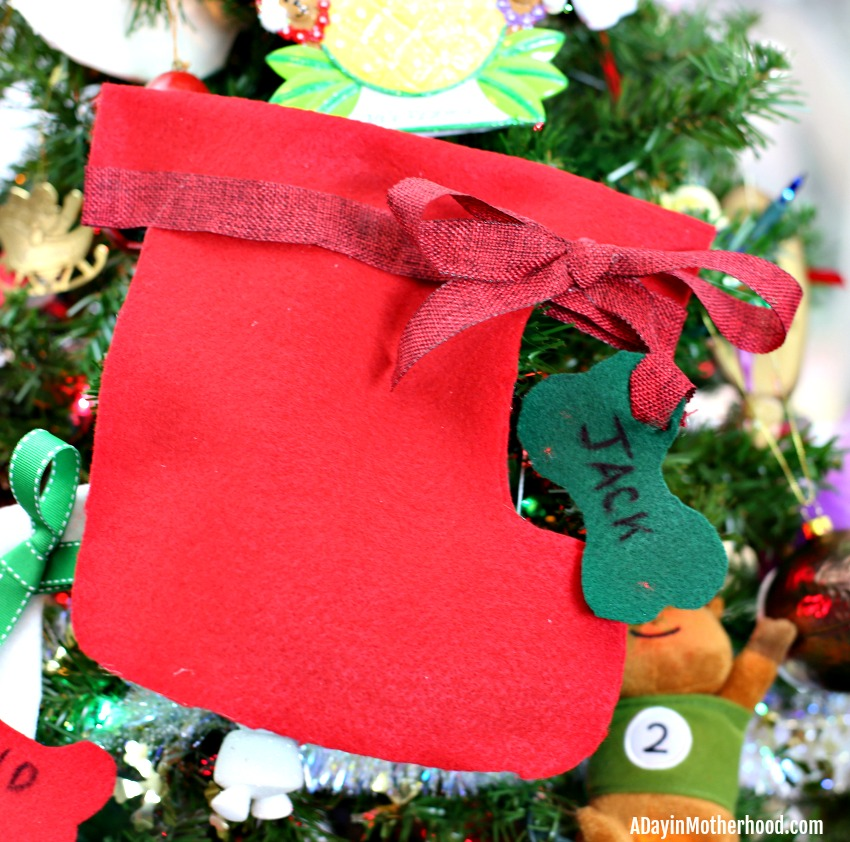 Easy DIY Dog Stocking (No Sew) like Jack's