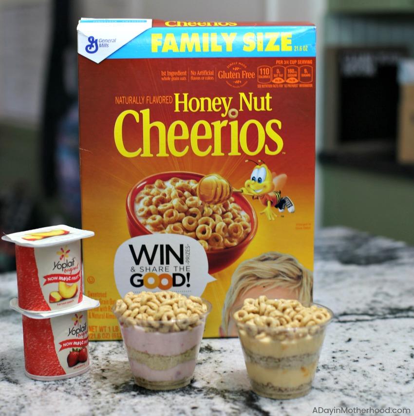 Honey Nut Cheerios Yogurt Parfait Cups 2 Ingredient Recipe