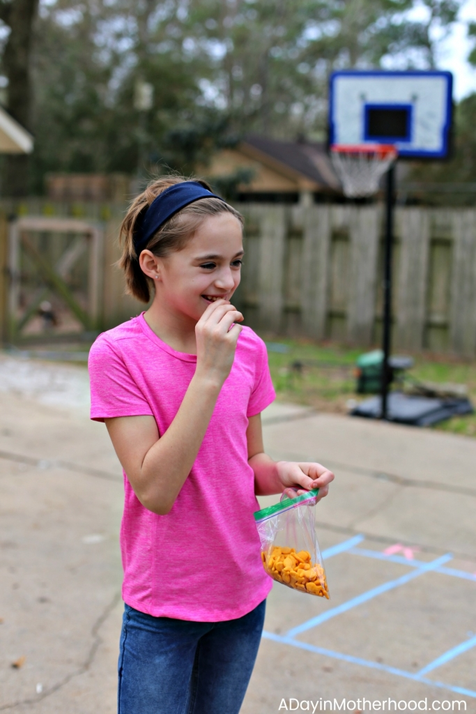 DIY Basketball Bucket Game with Goldfish