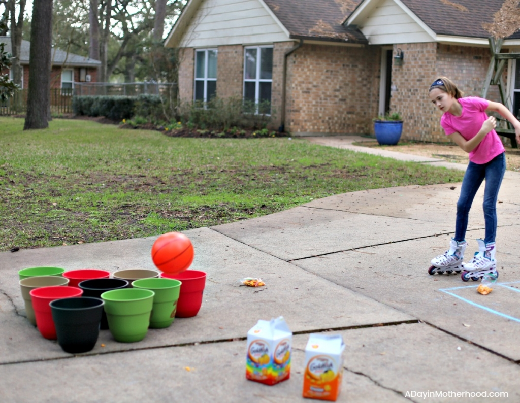 DIY Basketball Bucket Game and fun