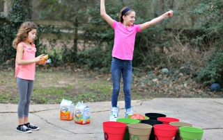 DIY Basketball Bucket Game happy