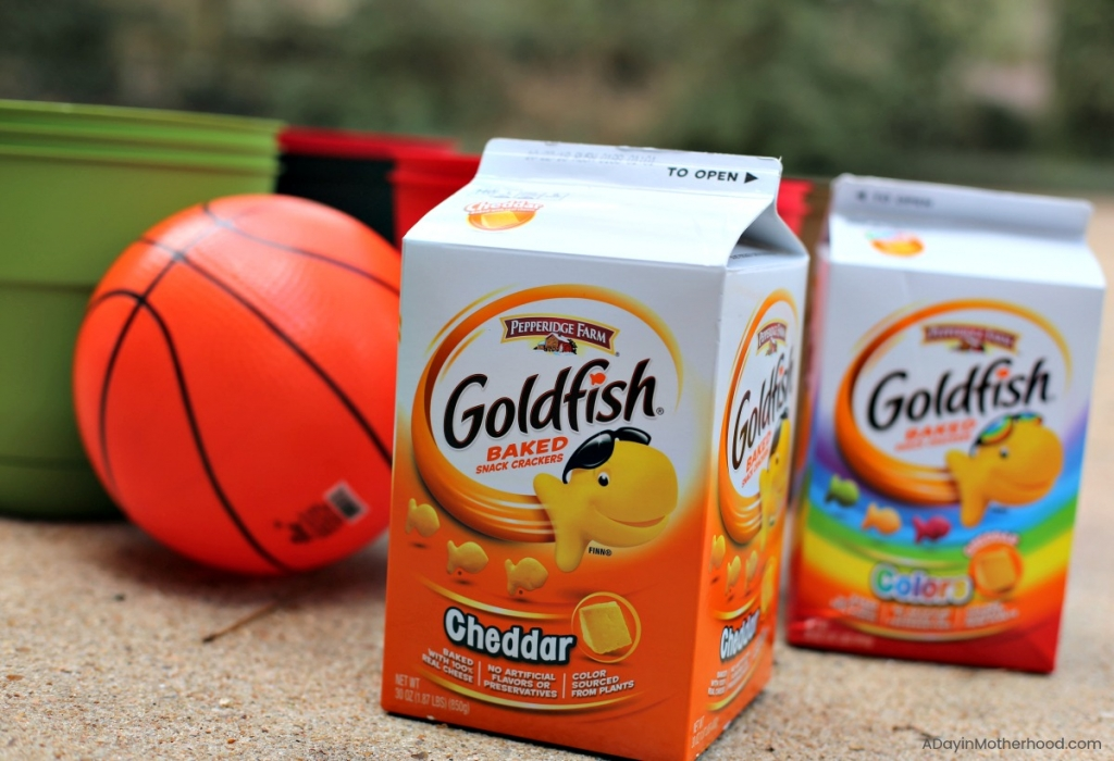 DIY Basketball Bucket Game and have Goldfish