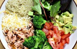 Chipotle Salmon Quinoa Burrito Bowl